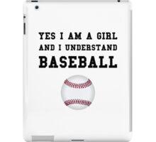Girl Baseball iPad Case/Skin
