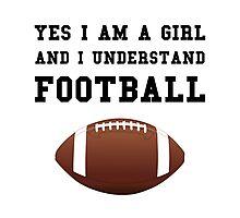 Girl Football Photographic Print