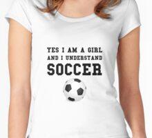 Girl Soccer Women's Fitted Scoop T-Shirt