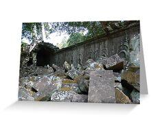 Fallen Building, Siem Reap, Cambodia Greeting Card