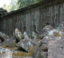 Fallen Building, Siem Reap, Cambodia Sticker