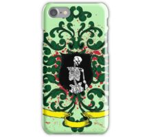 One Armed Skeleton Coat of Arms iPhone Case/Skin