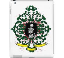 One Armed Skeleton Coat of Arms iPad Case/Skin