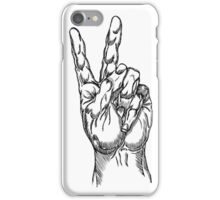 Two Fingers Peace Sign iPhone Case/Skin