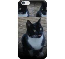 Cat - Tuxedo - Black and White iPhone Case/Skin