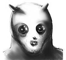 cartoon style alien illustration Photographic Print