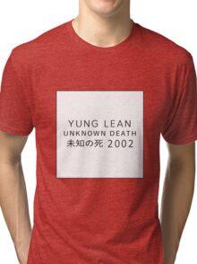 Yung Lean Unknown Death 2002 Sad Boys Tri-blend T-Shirt