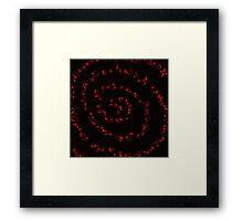 Blood Spiral Framed Print