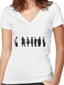The Walking Dead Cast Women's Fitted V-Neck T-Shirt