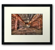Factory collapse Framed Print