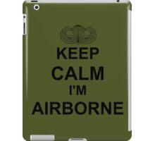 Keep Calm I'm Airborne - Parachutist iPad Case/Skin