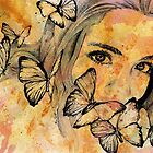 Remain Sedate - girl with butterflies by kiss-my-art