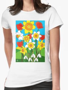 DAFFS SNOWDROPS TULIPS Womens Fitted T-Shirt