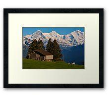 Jungfrau , Mench, Eiger, Alpen Framed Print