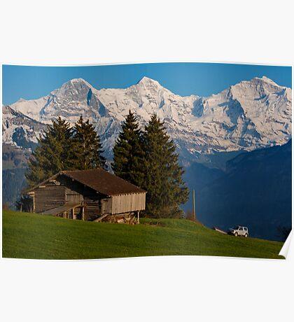 Jungfrau , Mench, Eiger, Alpen Poster