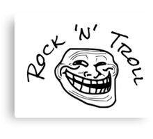 Rock Music Troll T-Shirts Canvas Print