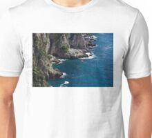 The Little Boat and the Cliff - Azure Waters Magic of Capri Unisex T-Shirt