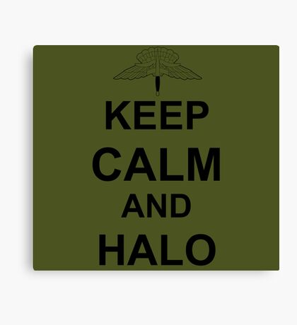 Keep Calm and HALO - Freefall Canvas Print