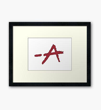 "Pretty Little Liars TV Series - ""A"" Design  Framed Print"