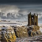 Snow, Keiss Castle, Caithness by Iain MacLean