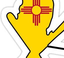 New Mexico flag skier Sticker
