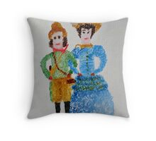 Doll's of Naantali Finland 1888 Throw Pillow
