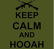 Keep Calm and Hooah - Army Photographic Print
