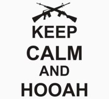 Keep Calm and Hooah - Army One Piece - Long Sleeve