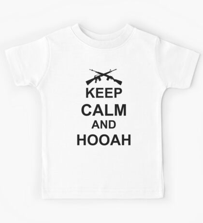 Keep Calm and Hooah - Army Kids Tee