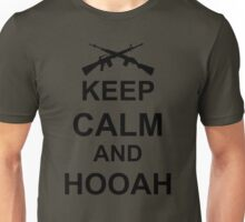 Keep Calm and Hooah - Army Unisex T-Shirt