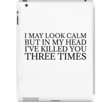 Funny Black Dark Humour Killer Weird Comedy iPad Case/Skin