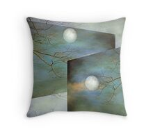 Juggling The Moon - Surrealism Throw Pillow