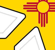 New Mexico flag airplane Sticker