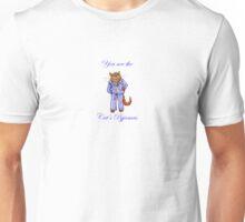 You are the cat's pyjamas, cat in stripey pyjamas Unisex T-Shirt