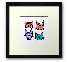 Graffiti Cats Framed Print