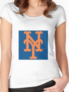 New York Mets Women's Fitted Scoop T-Shirt