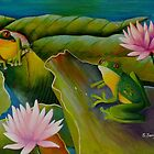 The Water Lily Pond by sandysartstudio