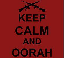Keep Calm and Oorah - Marines Photographic Print