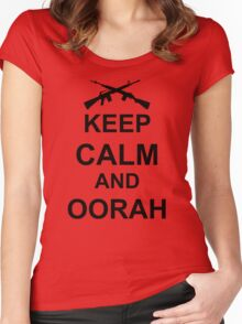 Keep Calm and Oorah - Marines Women's Fitted Scoop T-Shirt