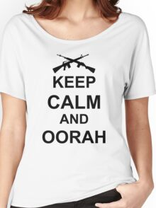 Keep Calm and Oorah - Marines Women's Relaxed Fit T-Shirt