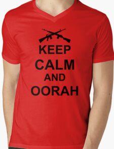 Keep Calm and Oorah - Marines Mens V-Neck T-Shirt