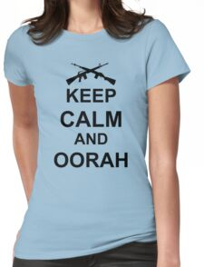 Keep Calm and Oorah - Marines Womens Fitted T-Shirt