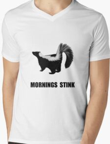 Mornings Stink Mens V-Neck T-Shirt