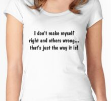 Right and wrong Women's Fitted Scoop T-Shirt