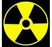 Radioactive symbol Atomic radioactivity science geek gifts Photographic Print