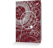 Ten Tie Gallicush - Maroon (Card) Greeting Card