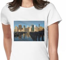 New York City Morning Reflections - Impressions Of Manhattan Womens Fitted T-Shirt