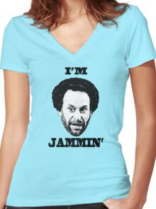 You got Jammed Women's Fitted V-Neck T-Shirt