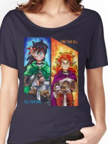 Big Knight, Tiny Knight Women's Relaxed Fit T-Shirt