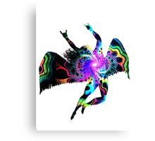 ICARUS THROWING THE HORNS - The 1960s white Canvas Print